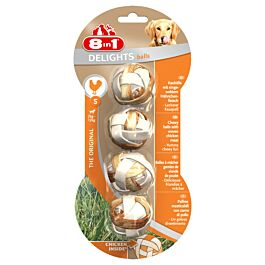 8in1 Delights Balles S  4 pièces