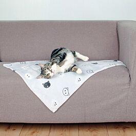 Decke Mimi 70x50cm hellgrau