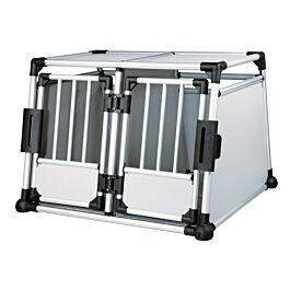 Trixie Double box de transport aluminium M-L