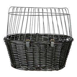 Trixie Fahrradkorb 50x41x35cm aus Weide schwarz