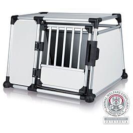 Box de transport, aluminium, L: 93 × 64 × 81 cm, argent/gris clair