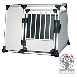 Box de transport, aluminium, L–XL: 94 × 75 × 88 cm, argent/gris clair