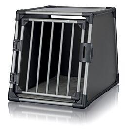 Box de transport, aluminium, M: 55 × 61 × 74 cm, gris graphite