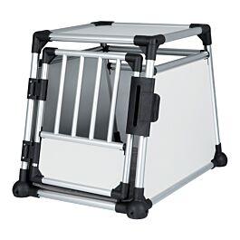 Box de transport, aluminium, M: 55 × 62 × 78 cm, argent/gris clair