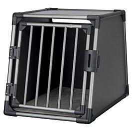 Box de transport, aluminium, M–L: 61 × 65 × 86 cm, gris graphite