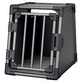 Box de transport, aluminium, S: 48 × 56 × 61 cm, gris graphite