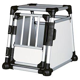 Box de transport, aluminium, S: 48 × 57 × 64 cm, argent/gris clair