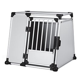 Box de transport, aluminium, XL: 94 × 87 × 93 cm, argent/gris clair