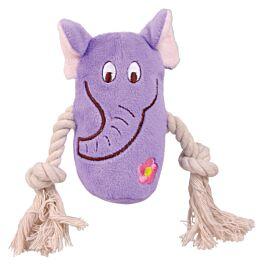 Trixie Animaux en peluche avec corde 13cm