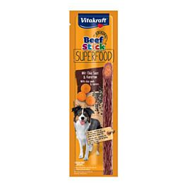 Vitakraft Snack pour chien Beef Stick Superfood Carotte & Chia