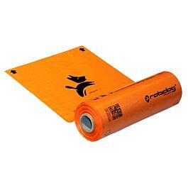 Robidog Hundekotbeutel Rolle orange 250 Stk.