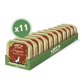 Lily's Kitchen Nassfutter für Hunde Organic Supper Rind 11x150g