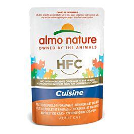 Almo Nature HFC Cuisine Hühnerfilet & Käse 24x55g