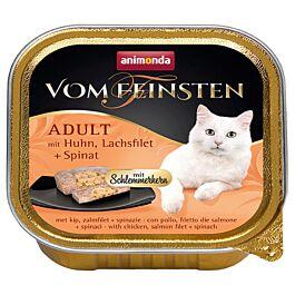 animonda Vom Feinsten Schlemmerkern Adult Huhn, Lachs & Spinat 100g
