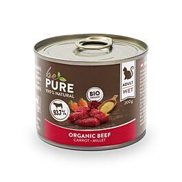 bePure Nourriture humide Bio Boeuf avec Carottes & Millet 200g