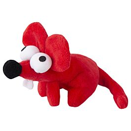 Rogz Katzenspielzeug Catnip Plush Mouse rot