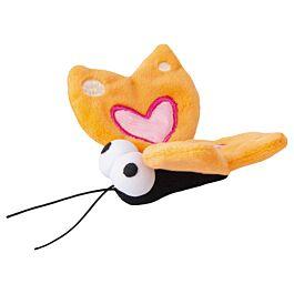 Rogz Katzenspielzeug Catnip Plush Butterfly orange