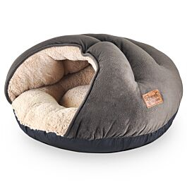 Freezack Grotte pour chat Decay brun en peluche 53.5x48cm