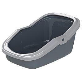 Chatnelle Toilettes pour chat Eco Minor ouvertes avec grille, grises