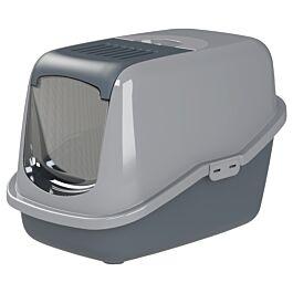 Chatnelle Toilettes pour chat EcoHus avec couvercle & grille, grises