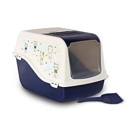 Toilette pour chats Ariel Deca vert/gris