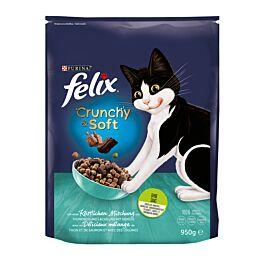 Felix Crunchy & Soft Lachs, Thunfisch & Gemüse 950g