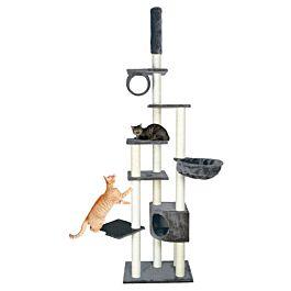 Arbre à chat Madrid, du sol au plafond, 245–270 cm, gris platinium