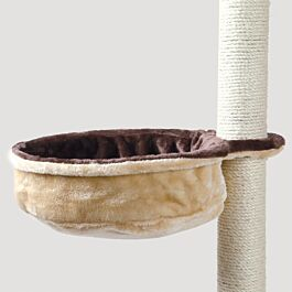 Sac confort pour abre à chat, cadre métal, ø 38 cm, beige/brun