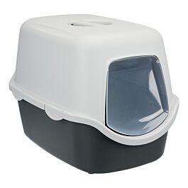 Bac à litière Vico, avec couvercle, 40 × 40 × 56 cm, gris foncé/gris clair