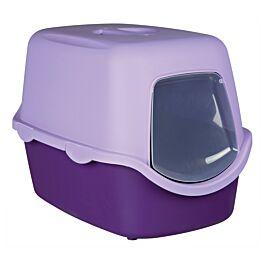 Bac à litière Vico, avec couvercle, 40 × 40 × 56 cm, lilas/mauve