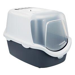 Bac à litière  Vico Open Top, avec couvercle, 40 × 40 × 56 cm, bleu-gris/blanc