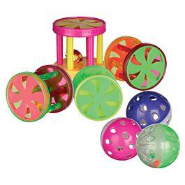 Trixie Balles & rouleaux avec clochette d=4,5cm