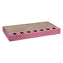 Trixie Kratzpappe mit Spielzeug pink