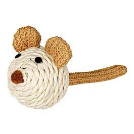 Trixie Maus mit Rassel Papiergarn 5cm
