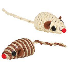 Trixie Spielmaus aus Bast mit Rassel 5cm