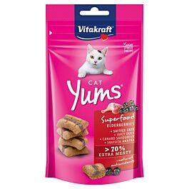 Vitakraft Cat Yums Superfood Holunder & Ente 40g Katzensnack