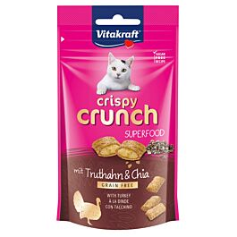 Vitakraft Katzensnack Crispy Crunch Truthahn & Chia 60g