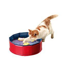 Karlie piscine pour chats Kitty Lake avec  jouets flottants 30x10cm