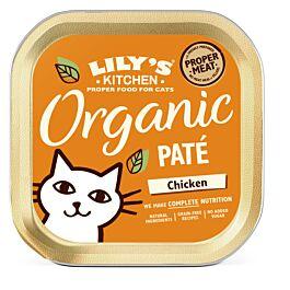 Lily's Kitchen Nassfutter für Katzen Organic Huhn 19x85g
