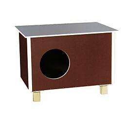 Elmato Maisonnette pour chats Outdoor brune 60x40cm