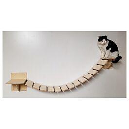 Elmato Pont suspendu mural pour chats 150cm