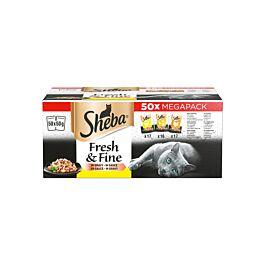Sheba Fresh & Fine Geflügel Variation 50x50g