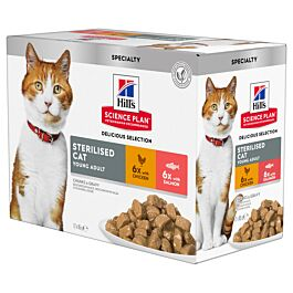Hill's Science Plan Young Adult Sterilised Cat - Katzenfutter Mix Multipack