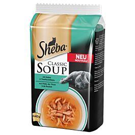 Sheba Classic Soup mit Huhn & Thunfischfilet