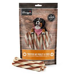Snuggis Hundesnack Twisters mit Poulet & Fisch