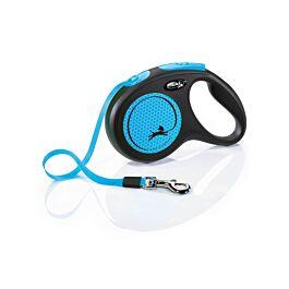 Flexi Rollleine New Neon Gurt Neonblau