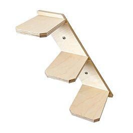 Elmato Katzenstufentreppe aus Naturholz links