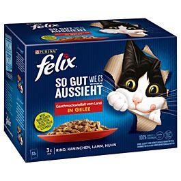 Felix Nourriture pour chats Aussi Bon que Beau en gelée