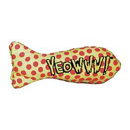 Yeowww Stinkies Jouet pour chat avec herbe à chat 1 pièce 7.5cm
