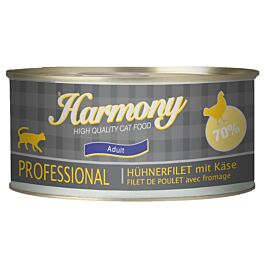 Harmony Cat Professional Nassfutter Hühnerfilet & Käse
